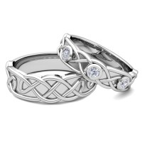 Matching Wedding Band Platinum Celtic Diamond Wedding Ring