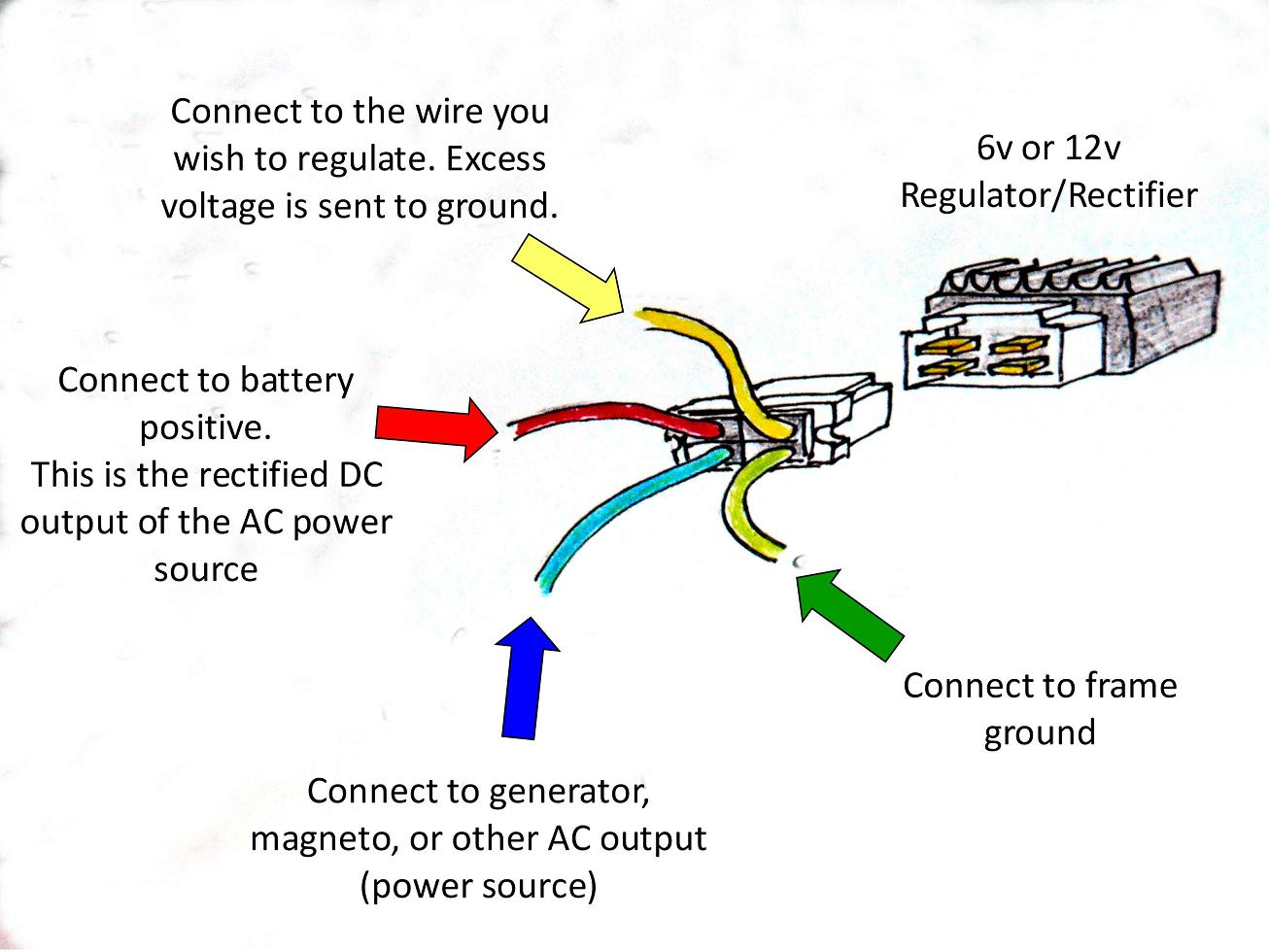 Rectifier Wiring Diagram 24 Images Portable Generator Likewise 220 Electric Motor Dratv 2267 13269058 4 Wire Regulator Efcaviation Com At