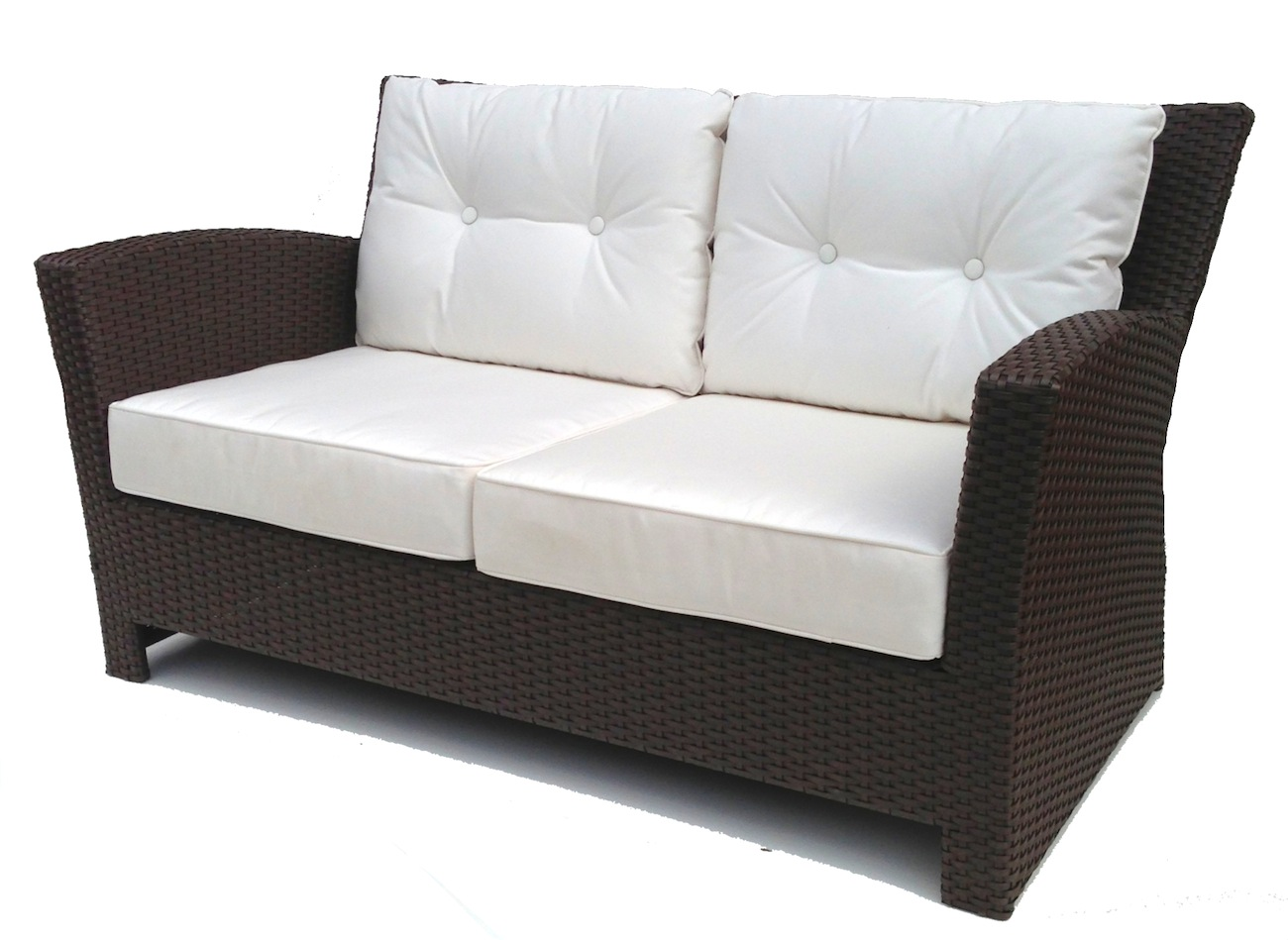 spring haven brown all weather wicker patio sofa billig chaiselong til salg outdoor hampton bay