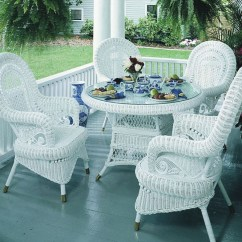 White Wicker Chairs And Table Pads For The Bottom Of Chair Legs Victorian Dining Set 5 Paradise