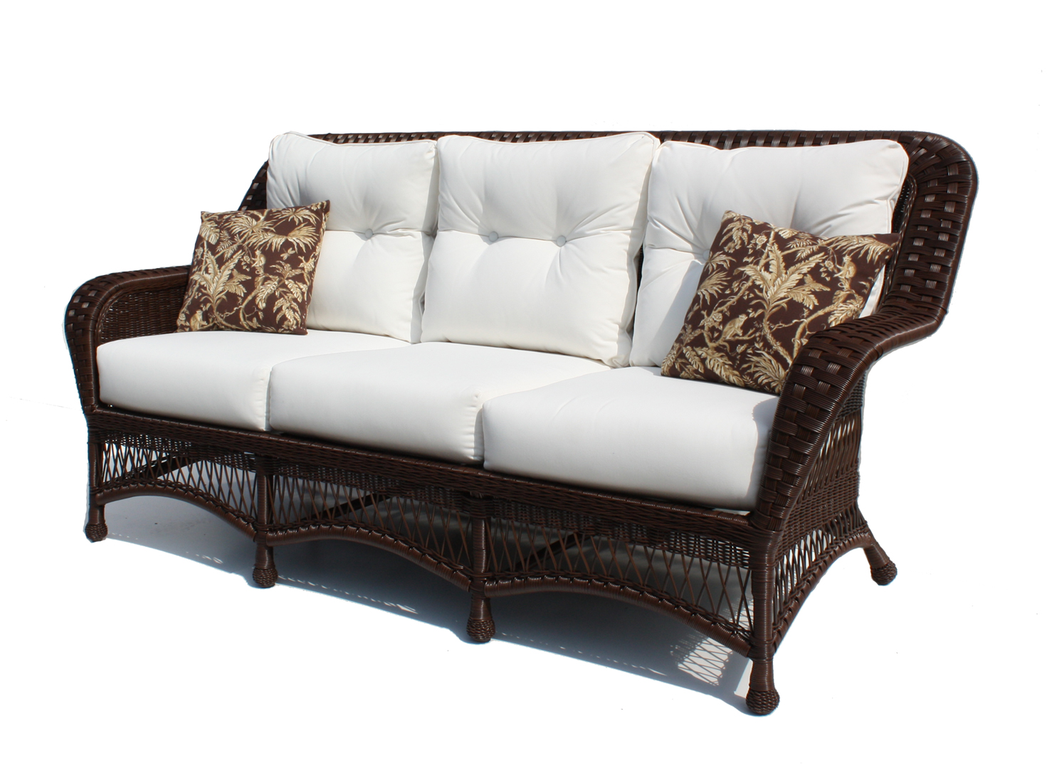 spring haven brown all weather wicker patio sofa clean microfiber with alcohol outdoor furniture resin