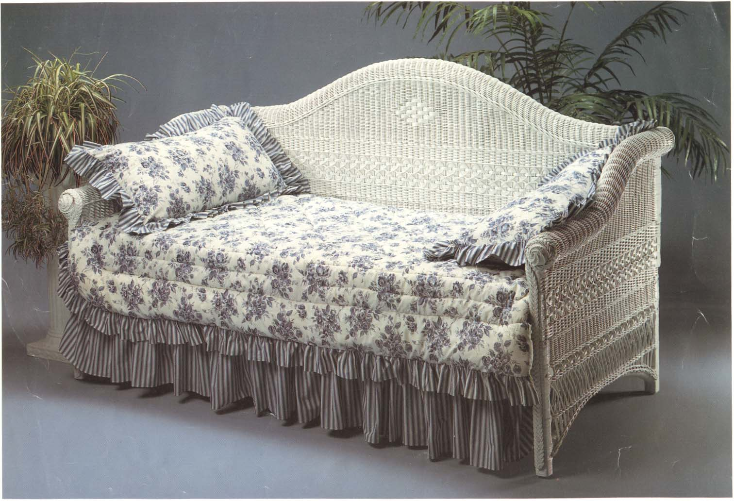 rattan love sofa daybed premium bed victorian wicker paradise