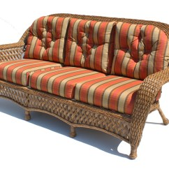 Outdoor Wicker Sleeper Sofa Sure Fit Slipcovers For Bed Montauk Shown In Natural