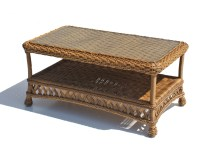 Outdoor Wicker Coffee Table In Natural Paradise
