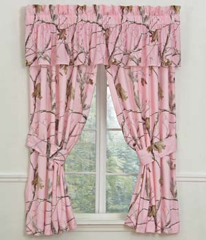 Realtree AP Pink Camouflage Curtains Drapes