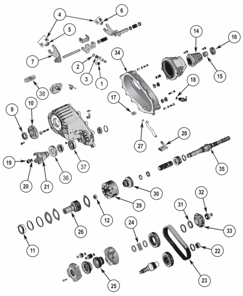 New Process NP242 Transfer Case Parts 1987-2002 Jeep