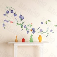 Purple Flowers - Large Wall Decals Stickers Appliques Home ...
