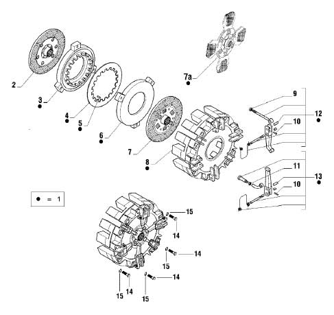 PTO CLUTCH DISC FOR 4500 4-WHEEL MAHINDRA TRACTOR