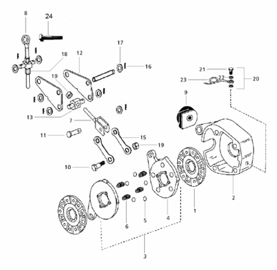 BRAKE ACTUATING ASSEMBLY FOR 4500 MAHINDRA TRACTOR