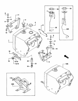FUEL TANK DRAIN EXTENSION FOR 4505 MAHINDRA TRACTOR