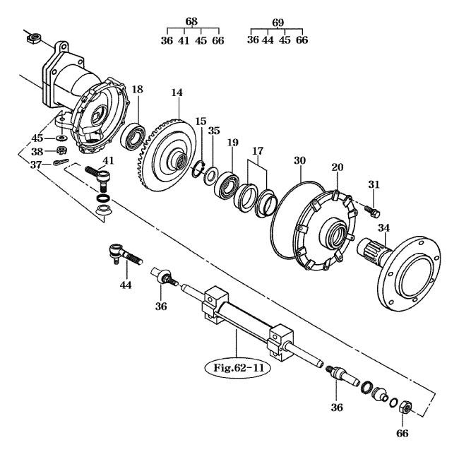 BALL JOINT EXTENSION #36 FOR 4110 MAHINDRA TRACTOR