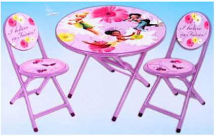 princess chairs for toddlers embroidered directors disney fairies tinkerbell girls folding table and set - children's & sets