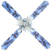 Blue Camouflage Boys Ceiling Fan with Lights - Kids ...
