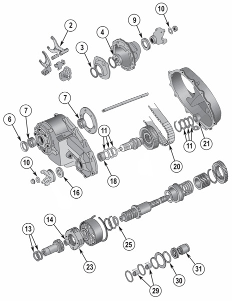 New Process NP208 Transfer Case Parts for Wagoneer, Full