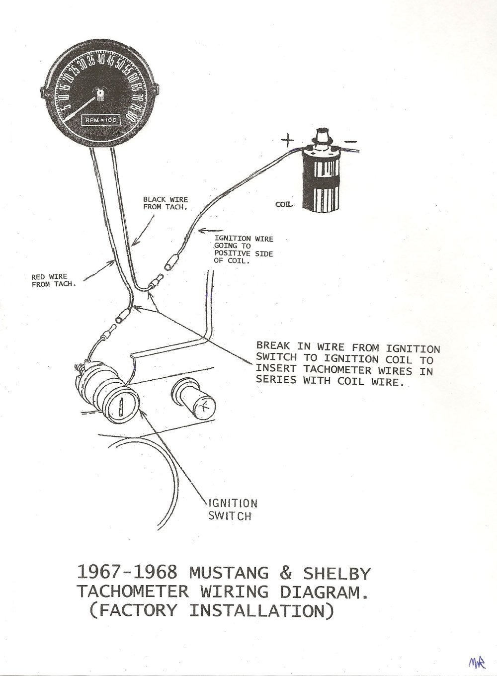medium resolution of 1968 mustang tach wiring