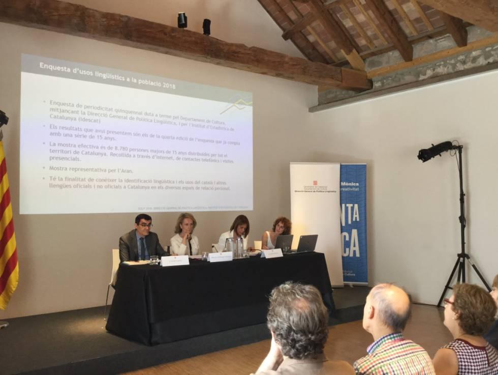 L'ús del català creix i s'allunya del perill de ser minoritari, segons la Generalitat