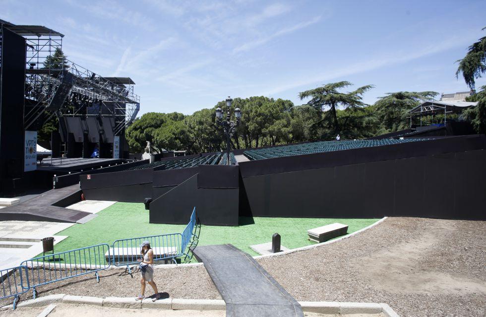 Un informe municipal alerta de riesgo de hundimiento en for Jardines sabatini conciertos