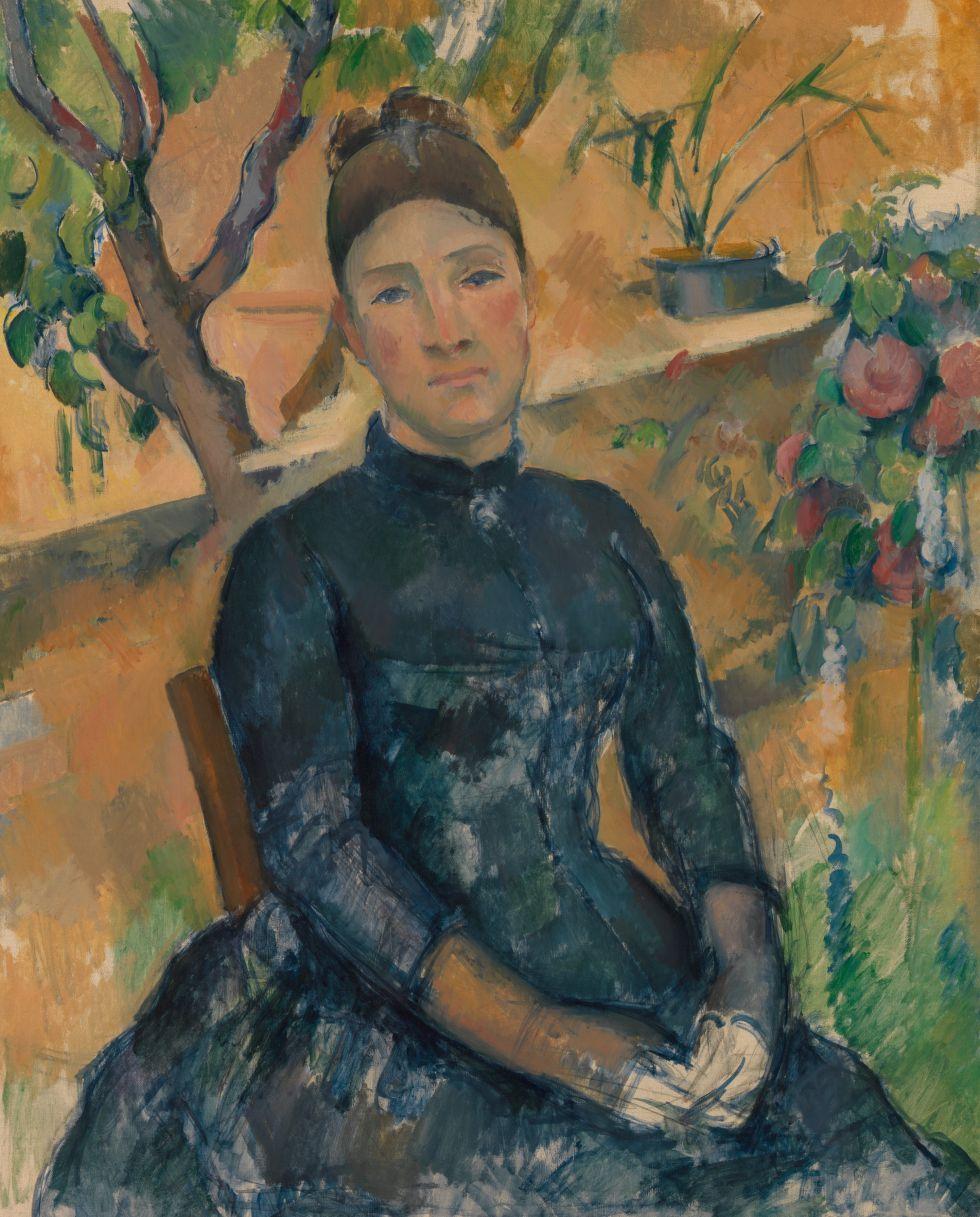 'Madame Cézanne en el invernadero' (1891). / THE METROPOLITAN MUSEUM OF ART