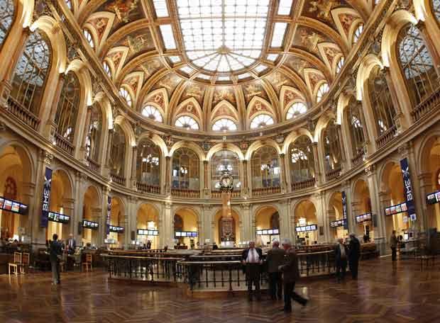 El saln de operaciones de la Bolsa de Madrid  Edicin