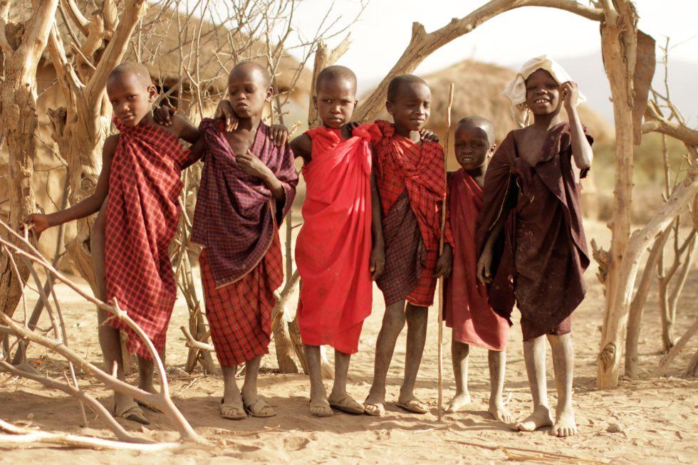 Niños masai