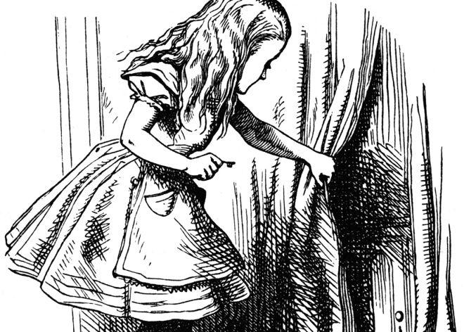 Resultado de imagen para dibujo alicia en el pais de las maravillas adulto