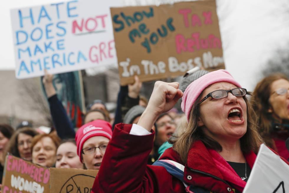 Protesta contra Donald Trump en Washington.