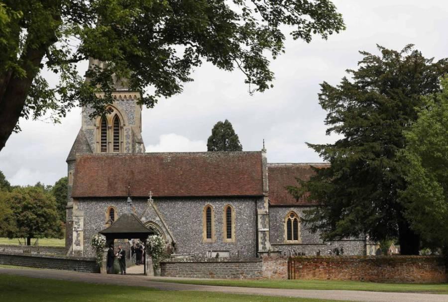 La Iglesia de San Marcos antes de la boda de Pippa Middleton y James Matthews.