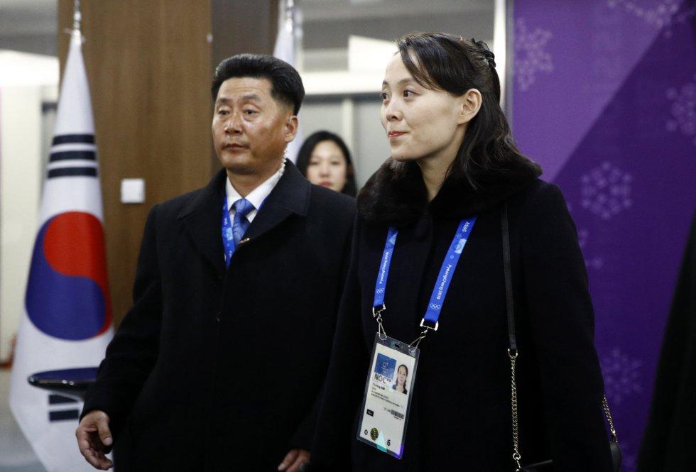Kim Yo Jong, la hermana del líder norcoreano, Kim Jong Un, en la ceremonia de inauguración de los Juegos Olímpicos de Invierno 2018 en Pyeongchang (Corea del Sur), el 9 de febrero de 2018.