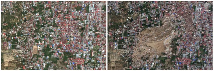 Uno de los barrios de Palu, en la isla de Célebes, en dos imágenes: una tomada el 17 de agosto y otra el 1 de octubre, tras el terremoto. La zona de Palu y Donggala ha sido golpeada por tsunamis y terremotos en varias ocasiones en los últimos 100 años. Por ejemplo, en 1938 una gran ola mató a más de 200 personas y destruyó cientos de casas en Donggala.