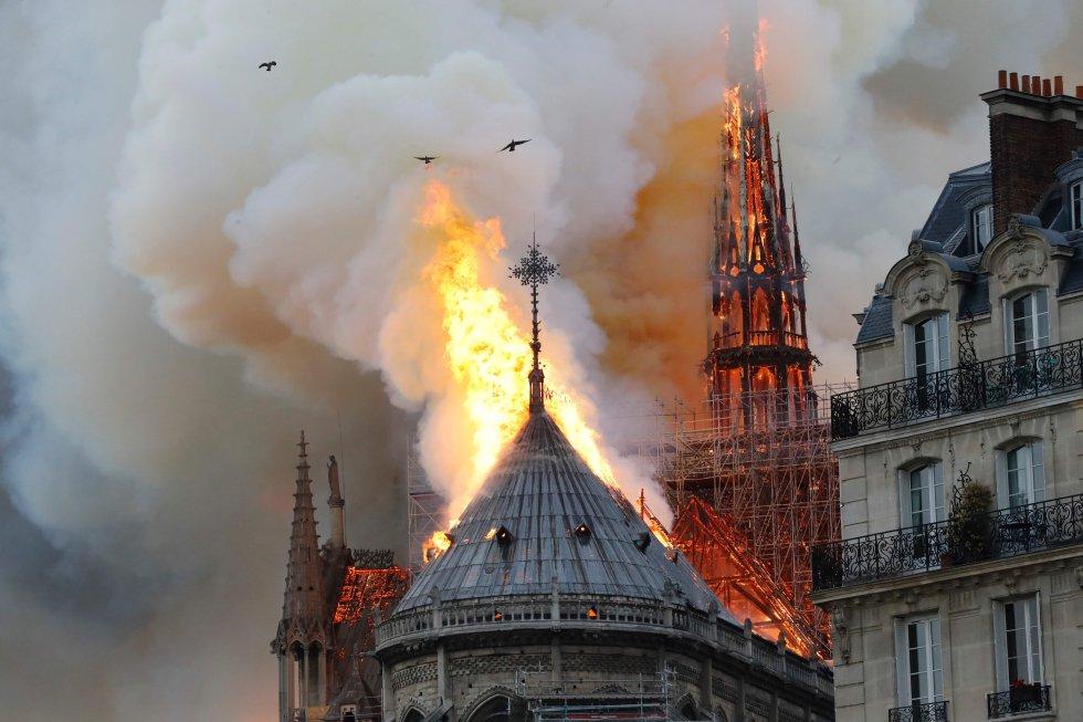 La Catedral Notre Dame de París ha sufrido un incendio, cerca de las seis de la tarde hora local.