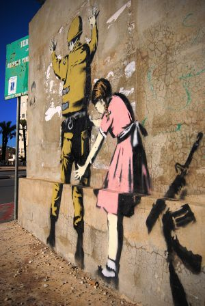 A criana de Banksy no muro palestino  El Viajero  EL