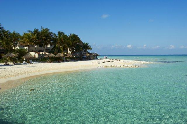 Fecha o 'top dez' das melhores praias do planeta a mexicana praia Norte, no extremo norte de Isla Mujeres, em frente à costa de Yucatán.