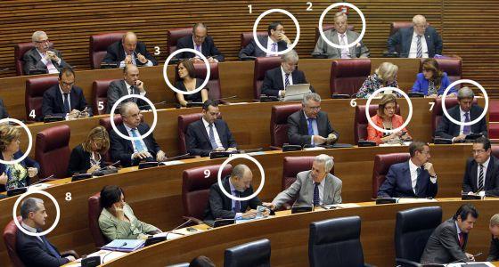 Imagen de la corrupción: diputados del PP valenciano imputados