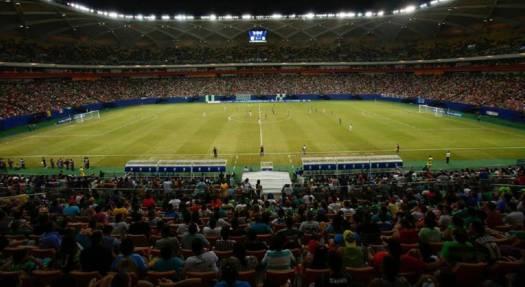 25.371 pessoas estiveram na Arena da Amazônia, nesta quinta.