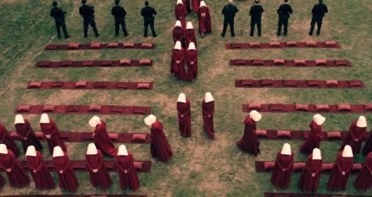 Uma das imagens impactantes de 'The Handmaid's Tale'