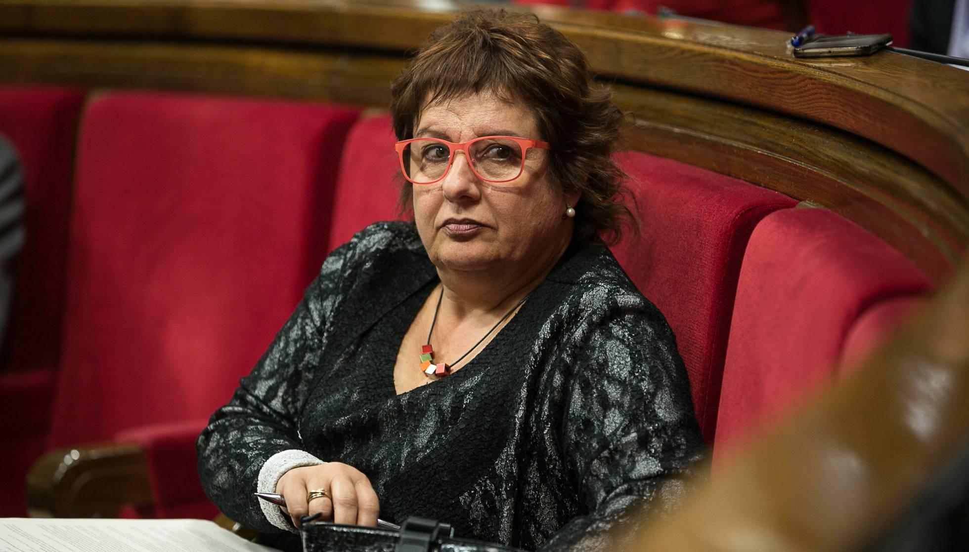 La consellera Dolors Bassa, al Parlament. Albert Garcia
