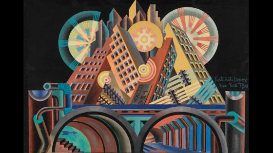 Fortunato Depero, 'Rascacielos y túneles'