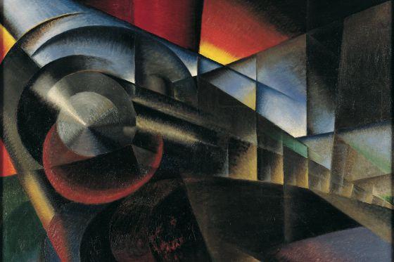 Ivo Pannaggi, 'Tren en movimiento', 1922.