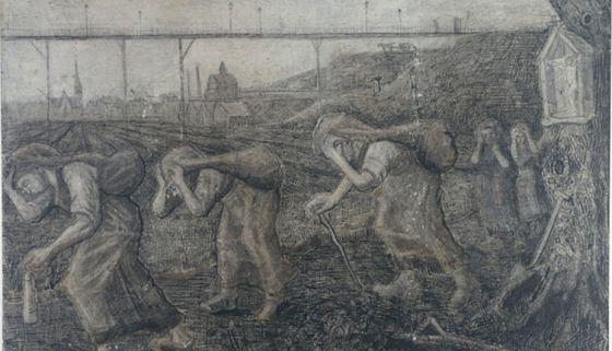 'Los porteadores de la carga' (1881), de Vincent van Gogh.