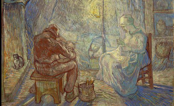 'La vigilia' (1889) de Vincent van Gogh.
