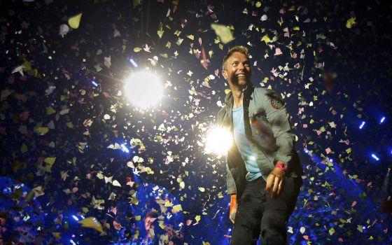 Chris Martin, cantante de Coldplay, durante el concierto que ofrecieron en 2012 en Madrid.