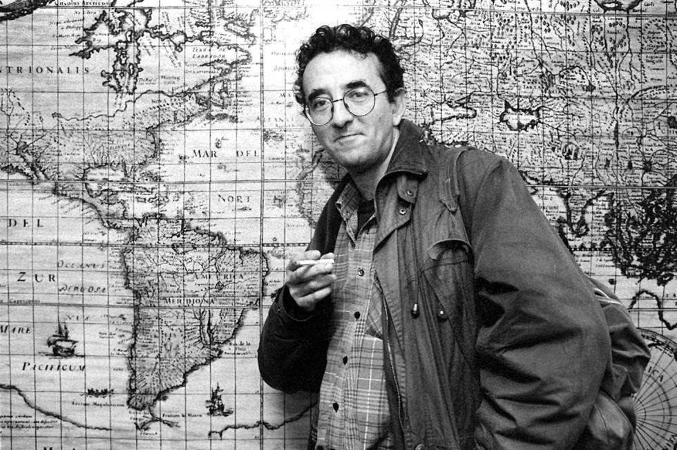 El escritor chileno Roberto Bolaño, en 1997.
