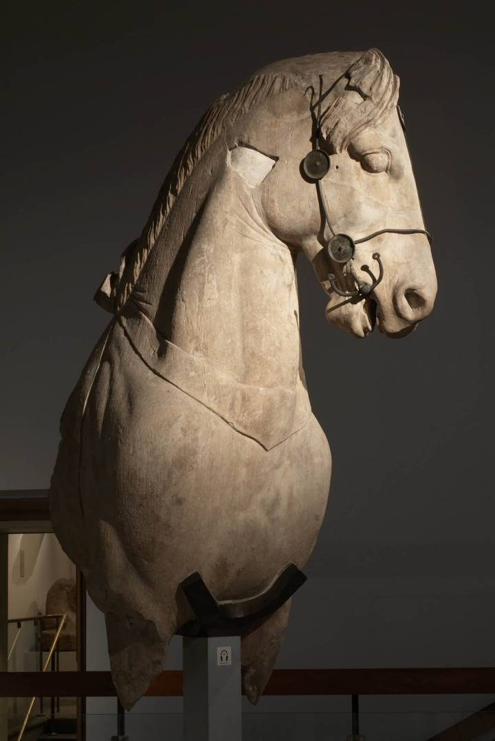 Uno de los fragmentos del Mausoleo de Halicarnaso custodiados en el British Museum. British Museum