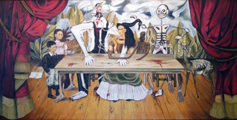 Resultado de imagen para la mesa herida frida kahlo