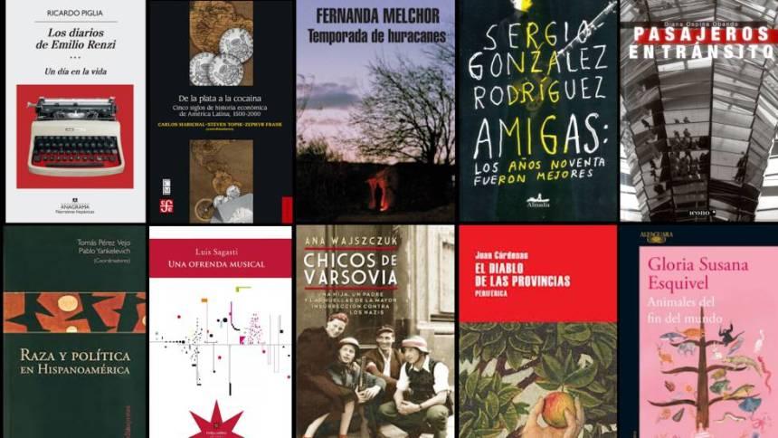 Algunas de las portadas de los libros seleccionados en la lista 2017.