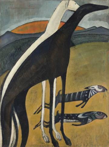'Los galgos', de Sousa-Cardoso, de 1911.