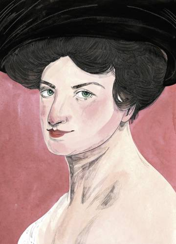 Alma Mahler, dibujada por María Herreros.