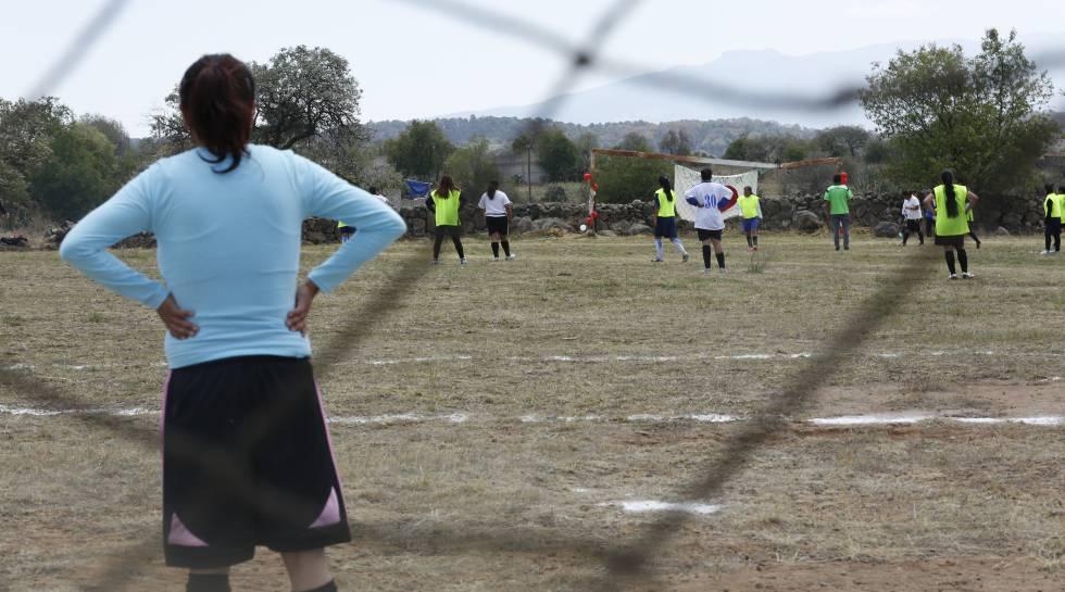 El equipo mazahua durante un juego realizado en Jocotitlán