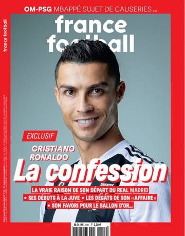 Cristiano Ronaldo, protagonista de la portada de 'France Football'.