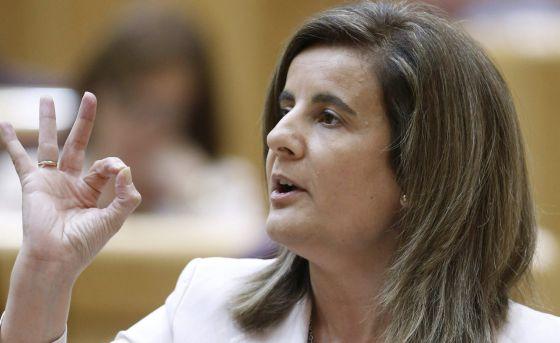 La ministra de Empleo y Seguridad Social, Fátima Báñez. / EFE
